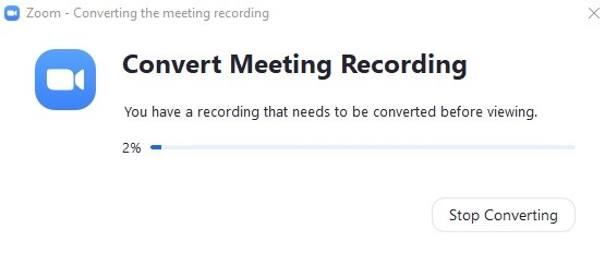 Zoom Recording Convert Meeting Recording 1