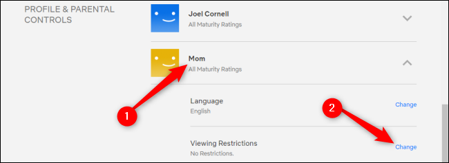 Netflix Parental Controls